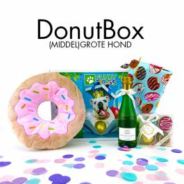 cadeaubox hond | DonutBox - (middel)grote hond
