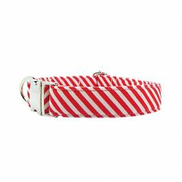 Halsband hond 'Red Stripe'